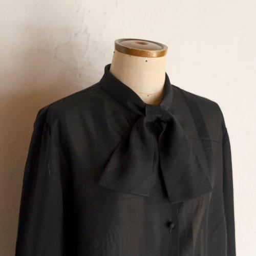 1970's TRICEL ribbon blouse / ストライプのリボンブラウス