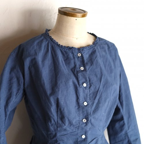 early 20th century cotton blouse / リボン結びのブラウス