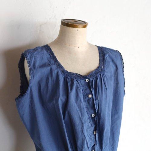 early 20th century cotton blouse / レースのついたノースリーブトップス