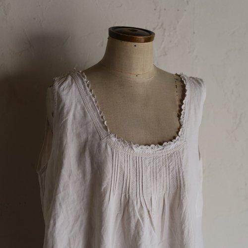 early 20th century lace dress / カットワークとタックのワンピース