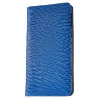 [iPhone7] チェーロ / リザード型押し ブルー×オレンジ 手帳型レザーケース