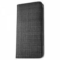 [8Plus] アスファルト / ブラック 本革 レザー 手帳型スマホケース