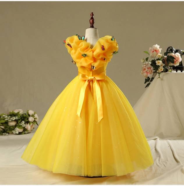 81413ed363d4d 子供サイズ ハロウィン美女と野獣ベル プリンセスドレス ディズニー ハロウィン コスプレ衣装