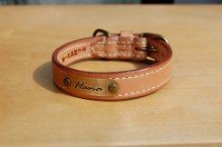 コードバン ストレート 首輪(Horse leather straight collar)