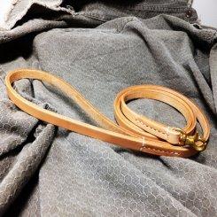 オイルヌメ革 ナチュラル リード 小型犬用 1cm幅