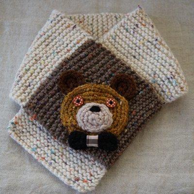 手編みマフラー/くまちゃん[mon chu chu]