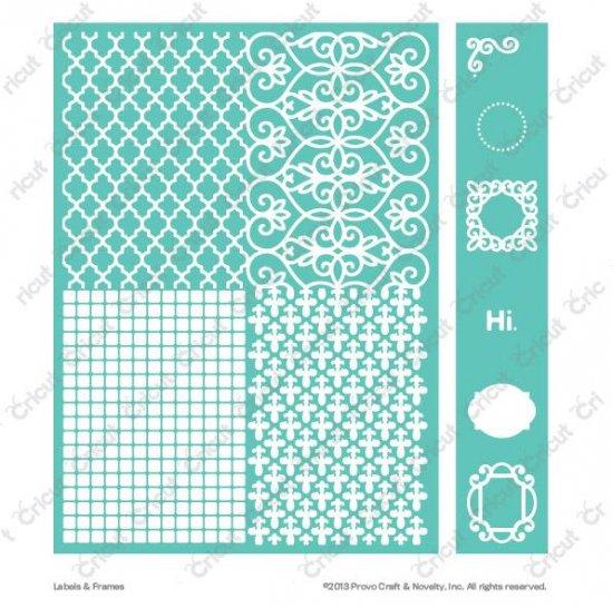 cuttlebug 5 x7 embossing folder border set labels frames 廃盤にて