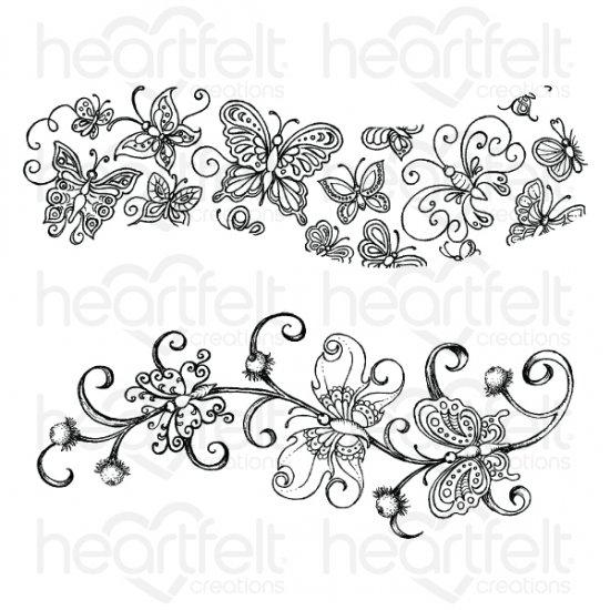 Heartfelt Creations Spellbinders Die ~ BUTTERFLY DREAMS BORDER ~ HCD1-7177