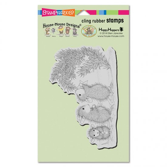 Stampendous House Mouse Cling Stamp Star Decorations HMCR122