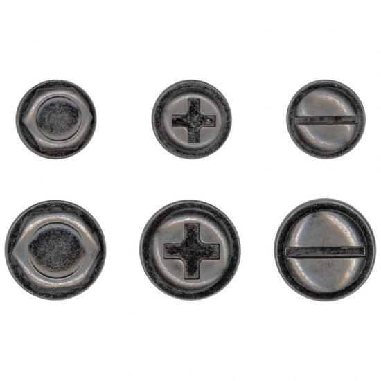 Idea-Ology Metal Adornments 6//Pkg Machinery Heads 040861940381
