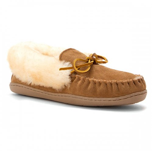 [大特価35%OFF]【ミネトンカ】MINNETONKA・ Alpine Sheepskin Moccasin  / GOLDEN TAN [ゴールデンタン]