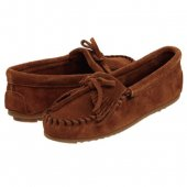 <img class='new_mark_img1' src='https://img.shop-pro.jp/img/new/icons20.gif' style='border:none;display:inline;margin:0px;padding:0px;width:auto;' />[30%OFF]MINNETONKA KILTY SUEDE MOC[ミネトンカキルティスエード モカシン]/ Brown [ブラウン]