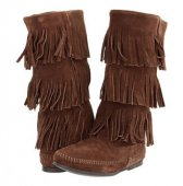 【ミネトンカ】MINNETONKA・3-LAYER FRINGE BOOT / DUSTY BROWN【ダスティブラウン】