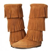 [在庫有]【ミネトンカ】MINNETONKA・3-LAYER FRINGE BOOT / TAUPE【トープ】<img class='new_mark_img2'  data-cke-saved-src='http://minnetshoe.com/img/new/icons1.gif' src='http://minnetshoe.com/img/new/icons1.gif' style='border:none;display:inline;margin:0px;padding:0px;width:auto;' />