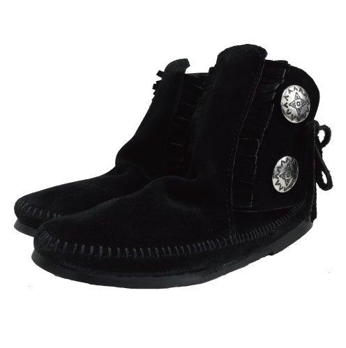 [大特価SALE]MINNETONKA・TWO BUTTON BOOT[ミネトンカツーボタン ブーツ]/ BLACK [ブラック ]