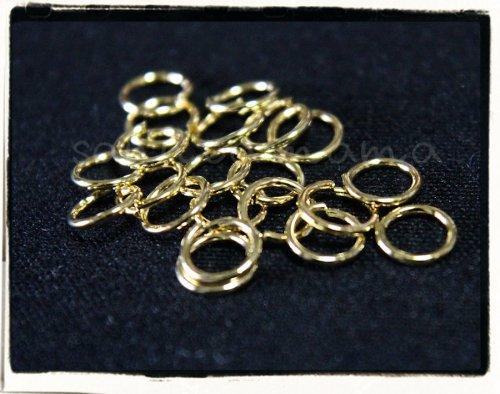 2色☆マルカン 高品質鍍金タイプ 50個セット 7サイズ