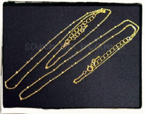 アジャスタ付き☆チェーンC ゴールド 約40+5cm