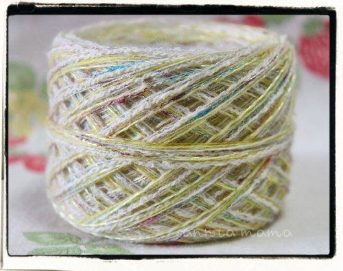 引き揃え糸★レモンライムスパーク 60g