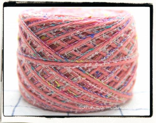引き揃え糸★桃色ミックス 60g