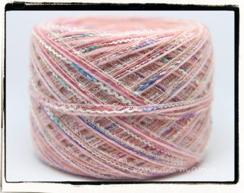 引き揃え糸★ベビーピンクドリーム 50g