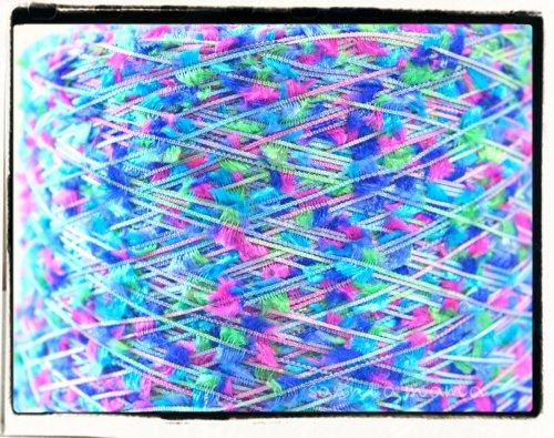 量り売り★かすりフラッグ糸 白芯/ブルー系