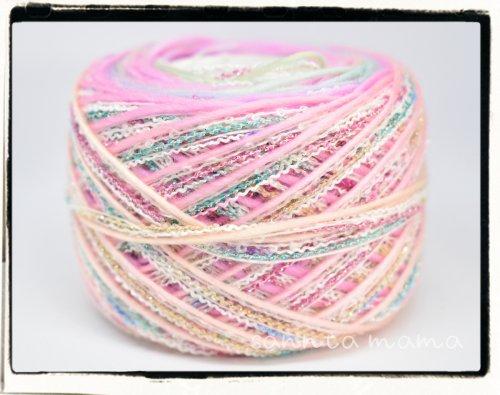 引き揃え糸★スプリングレインボー 約50g
