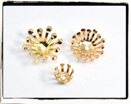 3種☆花芯パーツ ゴールド 5個セット