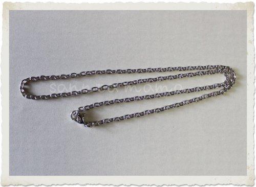 ネックレス金具付き☆シルバーチェーン 約35センチ 2本セット