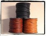 3色☆丸革ひもφ2mm つや消し粗染めタイプ