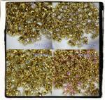 A級カットガラス 3mmラウンド/4つ爪 ゴールド座