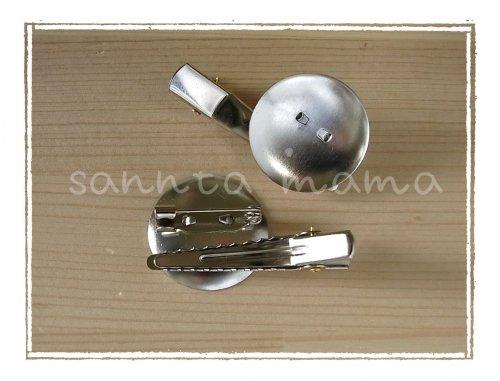 ダブルコサージュピン シルバー 23mm 100個セット