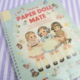 Paper Doll Mate(ペーパードールメイト) スプリングノートブック ブルー