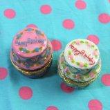 Mini Pottery birthday cake 小物入れ ディスプレイ 【ピンク/ホワイト】