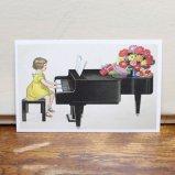 フランス製ポストカード ピアノの発表会 Ref.697 LUDOM EDITION