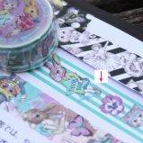 ジョリーフルール・ラトワール マスキングテープ 【THANK YOU ストライプ 幅:20mm】 Joli Fleur la Toile