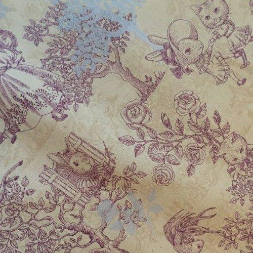 Joli Fleur La Toile(ジョリーフルールラトワール) 新作生地【アイリス】20/シーチング 綿100%  110cm×50cm