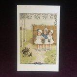フランス製ポストカード 3人の少女とうさぎ Ref.NP15 LUDOM EDITION
