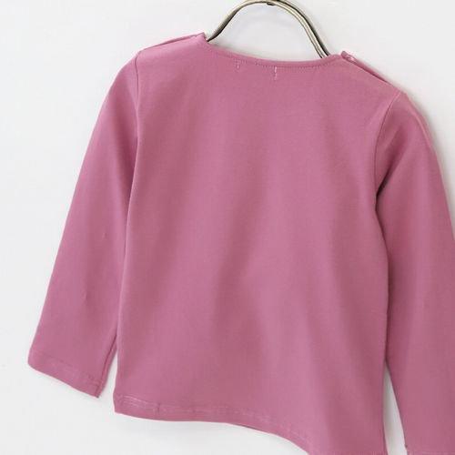 panpantutu おすましリボントップ(長袖)/ローズ サイズ 80〜130�  ※サイズによって価格が異なります。7000円以上から送料無料!