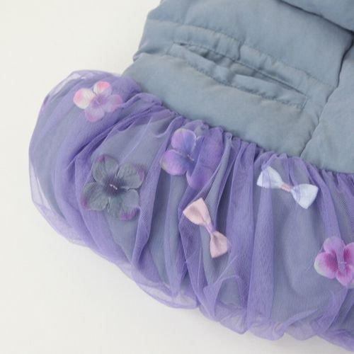 panpantutu 【ジュニア】お花とリボンのバルーンコート/アンティークブルー 140・150size 7000円以上送料無料です