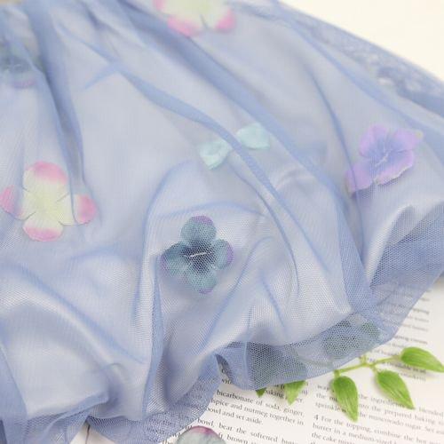 panpantutu お花とリボンのバルーンワンピ(スウェット)/フレンチグレー サイズ 80〜130�  ※サイズによって価格が異なります。7000円以上送料無料です