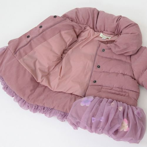 panpantutu お花とリボンのバルーンコート/アンティークローズ サイズ 80〜130�  ※サイズによって価格が異なります。7000円以上送料無料です