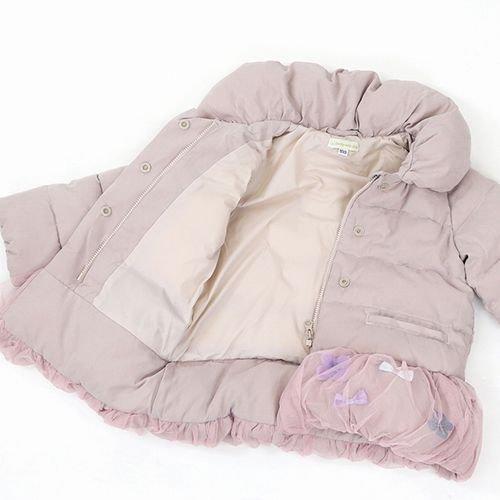 panpantutu お花とリボンのバルーンコート/パウダーピンク サイズ 90〜130�  ※サイズによって価格が異なります。7000円以上送料無料です