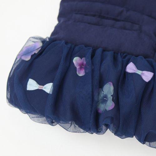 panpantutu お花とリボンのバルーンコート/ネイトネイビー 80〜130size 7000円以上送料無料です