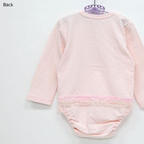 panpantutu チュールリボンロンパース(長袖)/べビーピンク サイズ 70・80�  7000円以上送料無料です