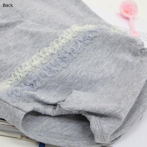 panpantutu チュールリボンロンパース(長袖)/ソフトグレー サイズ 70・80�  7000円以上送料無料です