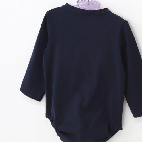 panpantutu エンジェルカラーロンパース(長袖)/ネイビー サイズ 70・80�  ※サイズによって価格が異なります。7000円以上送料無料です