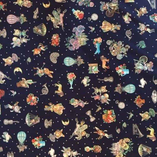 Joli Fleur La Toile(ジョリーフルールラトワール) 新作生地【ルナティックブルー】7700円以上から送料無料になりました☆レターパック使用