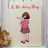英国 Belle&Boo 二つ折りグリーティングカード(封筒付き) A Birthday Hug