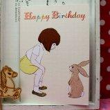 英国 Belle&Boo 二つ折りグリーティングカード(封筒付き) Happy Birthday