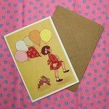 英国 Belle&Boo 二つ折りグリーティングカード(封筒付き)
